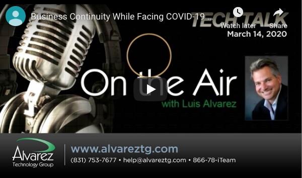 Alvarez Technology Group's Luis Alvarez Discusses Coronavirus & Cybersecurity On Power Talk Radio